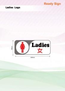 Ladies Sign (Rectangle)