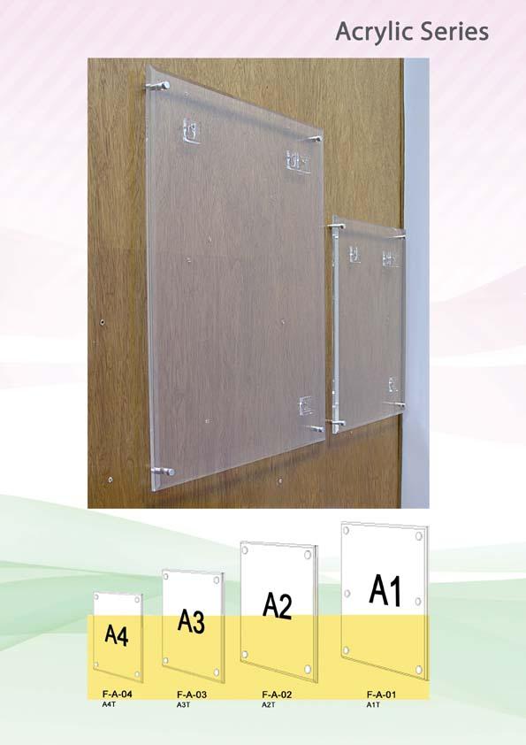 Acrylic Frame Sandwich Botak Sign Pte Ltd
