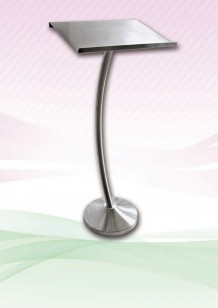 Menu Stand (Curve Pole) Stainless Steel