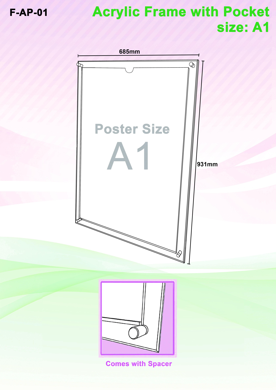 Acrylic frame pocket botak sign pte ltd display item code jeuxipadfo Gallery
